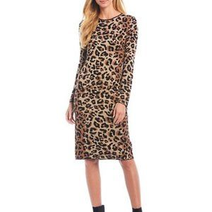 PIKO 1988 | Long Sleeve Leopard Sweater Dress SM